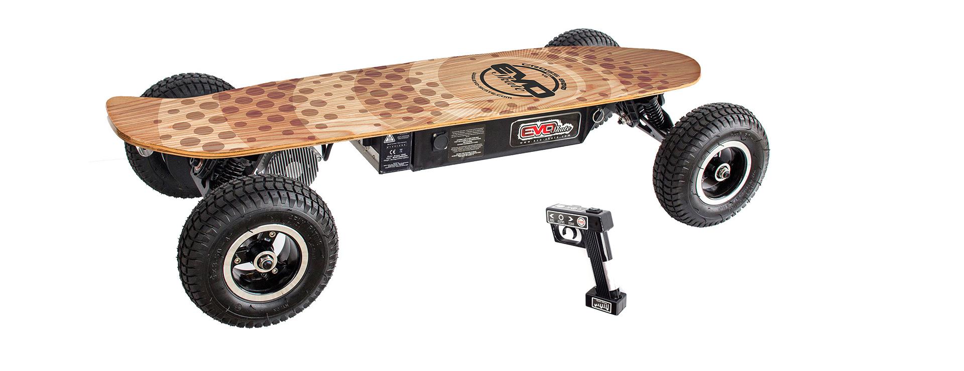 skate lectrique tout terrain cross800 v8. Black Bedroom Furniture Sets. Home Design Ideas