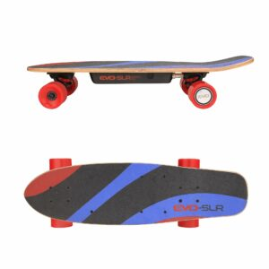 Evo-SLR is an ultra-lightweight electric skateboard, compact and easy to handle, designed  for  lighter riders.  It will be ideal for young people looking for an electric skateboard that's easy to master and safe.