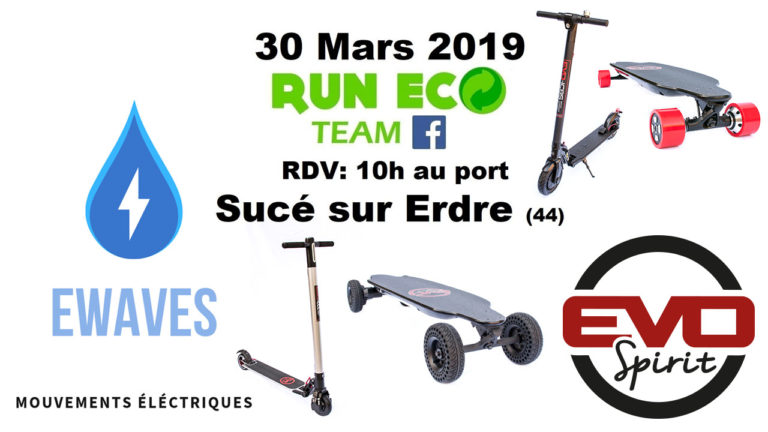 skates et trottinettes électriques avec Ewaves et la Run Eco