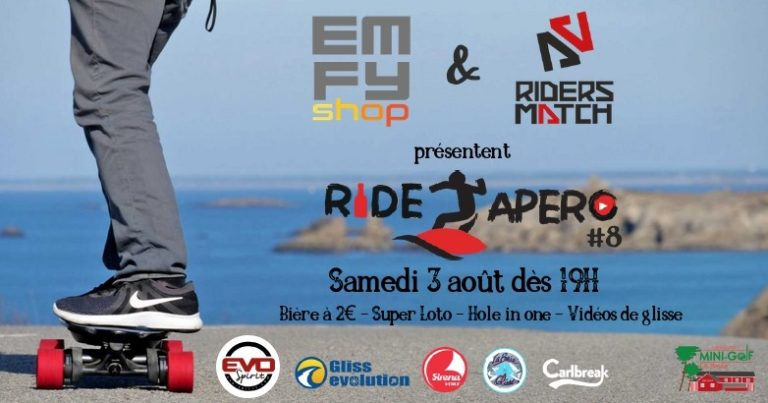 Ride Apéro EMFY-Shop au mini-golf de La Baule