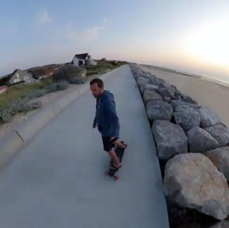 Skate-électrique-longboard--Curve-v3-et-drone