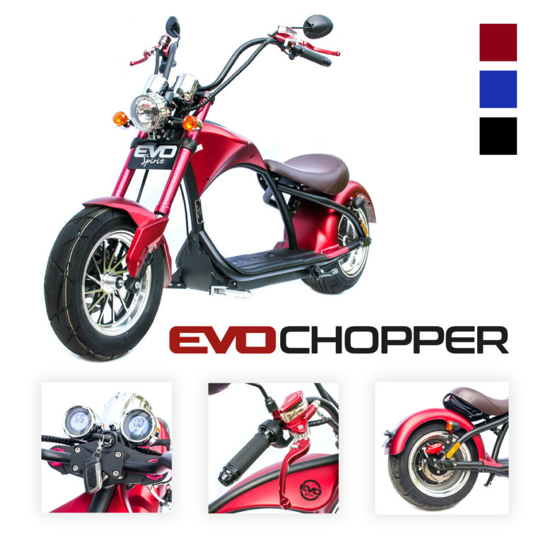 Chopper-électrique-moto-scooter-evo-spirit