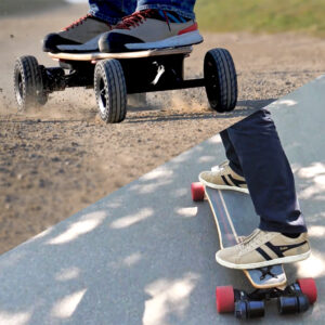 Skate-electrique-Convertible-tout-terrain-cross-longboard-switcher-HP-hautes performances