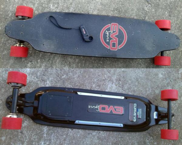skate electrique longboard occasion vends