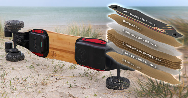 Skate-electric-Convertible-tout-terrain-cross-longboard-switcher-HP-hautes-performances-(plateau-flex-haut-de-gamme-ET-d'une-batterie-interchangeable)