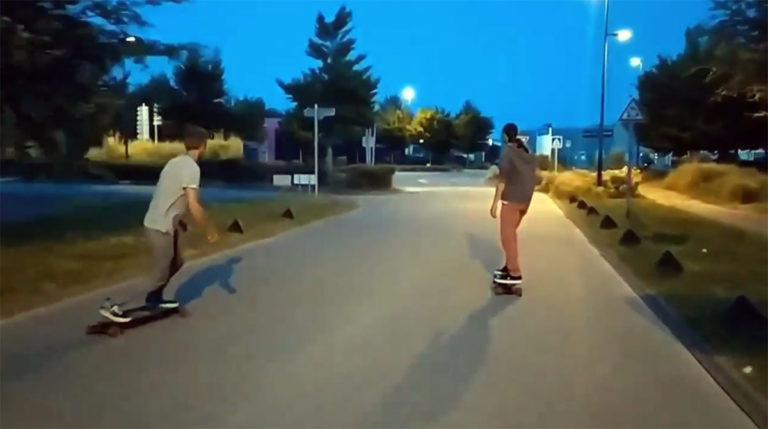 Vidéo Team Auray en skate électrique