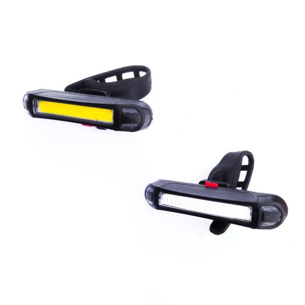 Kit de 2 lumières avant et arrière rechargeable Pour skates et trottinettes électriques