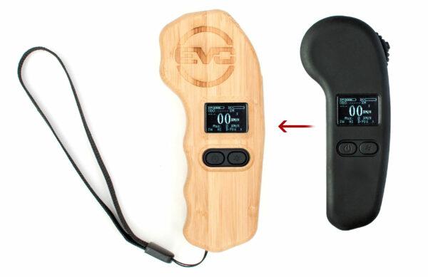 Coque de protection fabriquée en véritable bambou, pour la télécommande de votre skate électrique.